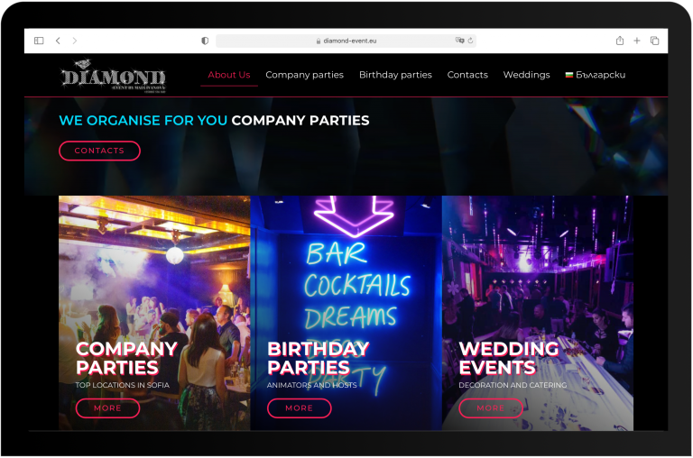 Website development for diamond event by Lab Forty