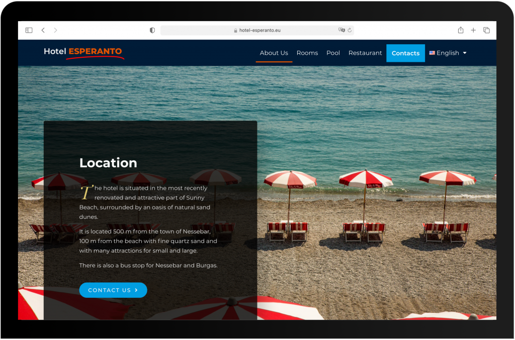 Hotel Esperanto Website development by Lab Forty